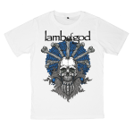 เสื้อยืด วง Lamb of God สีขาว แขนสั้น S M L XL XXL [1]