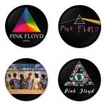 ของที่ระลึกวง Pink Floyd เลือกด้านหลังได้ 4 แบบ เข็มกลัด, แม่เหล็ก, กระจกพกพา หรือ พวงกุญแจที่เปิดขวด 1 แพ็ค 4 ชิ้น [7]