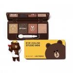 ( พร้อมส่ง ) Missha Line Friends Eye Color Studio Mini (Brown) 7.2g