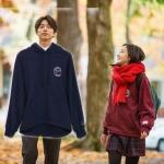 เสื้อฮู้ดแจ็คเก็ตสีแดงเกาหลี จีอึนทัก Goblin แต่งพิมพ์ลาย