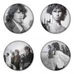 ของที่ระลึกวง The Doors เลือกด้านหลังได้ 4 แบบ เข็มกลัด, แม่เหล็ก, กระจกพกพา หรือ พวงกุญแจที่เปิดขวด 1 แพ็ค 4 ชิ้น [1]