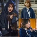 เสื้อฮู้ดแขนยาวสีน้ำเงินเกาหลี โดบงซุน แต่งเชือกผูก