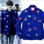 เสื้อแจ็คเก็ตแขนยาวเกาหลี VIXX แต่งปะป้ายหน้าหลัง ซับในอย่างดี มี2สี