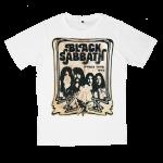 เสื้อยืด วง Black Sabbath สีขาว แขนสั้น S M L XL XXL [2]