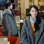 เสื้อโค้ทแจ็คเก็ตเกาหลี สีเทาเข้ม มีฮู้ด เวยเวยเธอยิ้มโลกละลาย