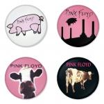 ของที่ระลึกวง Pink Floyd เลือกด้านหลังได้ 4 แบบ เข็มกลัด, แม่เหล็ก, กระจกพกพา หรือ พวงกุญแจที่เปิดขวด 1 แพ็ค 4 ชิ้น [8]