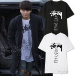 เสื้อยืดแขนสั้นเกาหลี BTS JUNGKOOK พิมพ์ลายด้านหน้า มี7สี