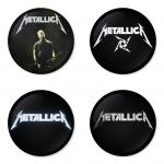 ของที่ระลึกวง Metallica เลือกด้านหลังได้ 4 แบบ เข็มกลัด, แม่เหล็ก, กระจกพกพา หรือ พวงกุญแจที่เปิดขวด 1 แพ็ค 4 ชิ้น [3]