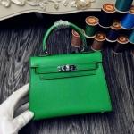 Hermes Mini kelly 8นิ้ว สีเขียว หนังEpsom