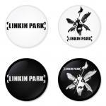 ของที่ระลึกวง Linkin Park เลือกด้านหลังได้ 4 แบบ เข็มกลัด, แม่เหล็ก, กระจกพกพา หรือ พวงกุญแจที่เปิดขวด 1 แพ็ค 4 ชิ้น [1]