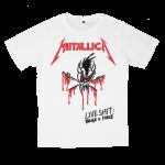 เสื้อยืด วง Metallica สีขาว แขนสั้น S M L XL XXL [4]