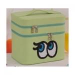 กระเป๋าเครื่องสำอาง big eyes double box สีเขียว
