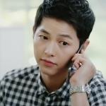 เสื้อเชิ้ตแขนยาวเกาหลี ซง จุง-กิ Descendants Of The Sun ลายสก็อตสีดำขาว