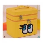กระเป๋าเครื่องสำอาง big eyes double box สีเหลือง