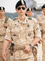 แว่นตาเกาหลี สีดำ ซง จุง-กิ Descendants Of The Sun