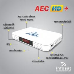 AEC HD+ เครื่องรับสัญญาณดาวเทียม C&KU Thaicom (รับช่อง AEC เพิ่มเฉพาะในระบบ KU)
