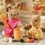 ซิลวาเนียน ชุดหนูน้ำตาลไปจ่ายตลาด (UK) Sylvanian Families Hazel and Rhianna Day Out thumbnail 3