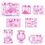 [SOLD OUT] ชุดตัวปั๊มซิลวาเนียน-กล่องชมพู (JP) Sylvanian Families Stamp Set thumbnail 2