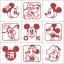 ตัวปั๊มฐานไม้รวมมิกกี้เมาส์จิ๋วพร้อมกล่อง (Disney Mickey Mouse Mini Stamper) thumbnail 2