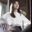 เสื้อแฟชั่นสีขาว โอยอนจู W Two Worlds แต่งปักลาย