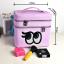 กระเป๋าเครื่องสำอาง big eyes double box สีม่วง thumbnail 2