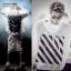 เสื้อฮู้ดคลุมแขนยาว EXO สีขาว แต่งลายหน้าหลัง