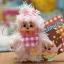 ตุ๊กตาลิงมอนจิจิขนยาว 3.5นิ้ว Flaky Hair Monchhichi Girl Mascot thumbnail 1