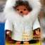 ตุ๊กตาลิงมอนจิจิในชุดกันหนาวสีขาว (Dressed Monchhichi 20cm Down Coat Boy) thumbnail 1