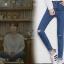 กางเกงยีนส์ขายาวกรีดขาดตรงหัวเข่า สไตล์หมอคังโมยอน ซองเฮเคียวจากซีรี่ย์ Descendants of the Sun