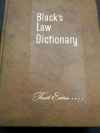 Black's Law Dictionary . 4'th Edition . by Henry Cambell Black .hardcopy 1882 pages .copyright 1951 (พ.ศ.2494)