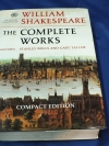 WILLIAM SHAKESPEARE THE COMPLETE WORKS COMPACT EDITION by STANLEY WELLS AND GARY TAYLOR ปกแข็ง 1274 หน้า ปี 1991