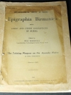 Archaeological survey of Burma Epigraphia Birmanica (Lithic and other Inscriptions) copyright 1962 182 Pages