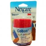 Nexcare first aid 3m Coban สีแดง โคแบน เทปพันยืดหยุ่นได้ น้ำหนักเบา ระบายอากาศได้ดี ขนาด 3 นิ้ว x 5หลา บรรจุ 1 ม้วน