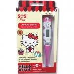 SOS Plus Clinical Digital Thermometer Hello Kitty เอสโอเอส พลัส เทอร์โมมิเตอร์ รุ่นHKT02 (สีชมพู)