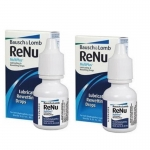 Bausch & Lomb Renu MultiPlus Lubricating & Rewetting Drops 8ml. น้ำตาเทียม น้ำยาหยอดตา x 2 กล่อง