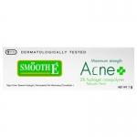 Smooth-E Acne Hydrogel 7g Smooth-E Acne Hydrogel 7 Gสมูท อี แอคเน่ ไฮโดรเจล ผลิตภัณฑ์นี้ใช้ได้กับสิวทุกชนิด และเป็นผลิตภัณฑ์ที่ไม่มีส่วนผสมของ น้ำมัน ที่เป็นสาเหตุให้เกิดความมันและสิวอุดตัน