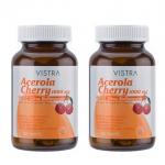 Vistra Acerola Cherry 1000 mg 45 Tabs x 2 PCs. วิสทร้า อะเซโรลาเชอร์รี่ 1000 มก. บรรจุ 45 เม็ด x 2 ขวด