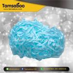 กระดาษฝอย - สีฟ้า ขนาด 4 mm. : สำหรับรองสินค้า กันกระแทก