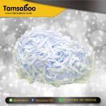 กระดาษฝอย - สีขาว ขนาด 4 mm. : สำหรับรองสินค้า กันกระแทก ขนาด 80 กรัม