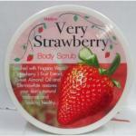 Mistine Very Strawberry Body Scrub สครับขัดผิวกาย ผิวขาวเนียนหอมกลิ่นผลไม้ (220 มิล) : 1 ชิ้น