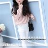 กางเกงเด็กผู้หญิงสีขาว ขายาวเอวยางยืด มีกระเป๋าด้านข้าง ใส่กับเสื้อแบบไหนก็น่ารักค่ะ