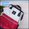 กระเป๋าเป้สะพายหลัง Anello CANVAS RUCKSACK Classic-สีขาวแดงกรม-