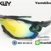 แว่นตาปั่นจักรยาน Oakley Jawbreaker [สีดำ-ขอบเขียว]