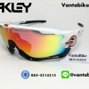 แว่นตาปั่นจักรยาน Oakley Jawbreaker [สีขาว-แดง]