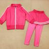 ชุดเซ็ทเด็กสีชมพู 2 ชิ้น เสื้อแขนยาวซิปหน้า+กางเกงเลกกิ้งขายาว แบบเข้าชุดใส่แล้วน่ารักเท่ห์สุดๆค่ะ
