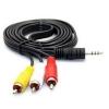 สาย AUDIO สายสัญญาณภาพและเสียง Stereo Cable 3.5 To AV Cable 1.5m (Black)