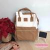 Anello กระเป๋าเป้ สะพายหลัง รุ่น Pu Leather Rucksack mini แท้100% สีขาว-เบจ