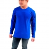 เสื้อยืดคอกลมแขนยาว สีน้ำเงิน