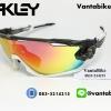 แว่นตาปั่นจักรยาน Oakley Jawbreaker [สีดำใส-ขาว]