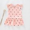 มินิเดรสเด็กหญิงสีชมพู ผ้ายืดแบบเรียบง่าย ผ้าใส่สบายๆ น่ารักค่ะ (ไซส์เล็กดูขนาดก่อนสั่งนะค่ะ)